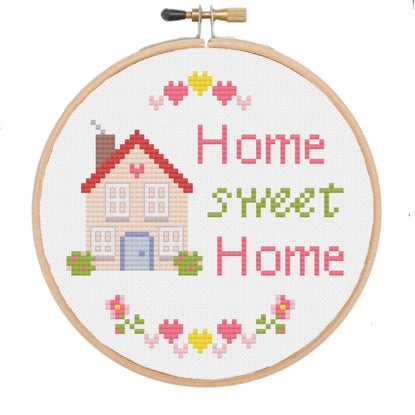 The Geeky Stitching Co CROSS STITCH KIT - Home Sweet Home - Beautiful Knitters