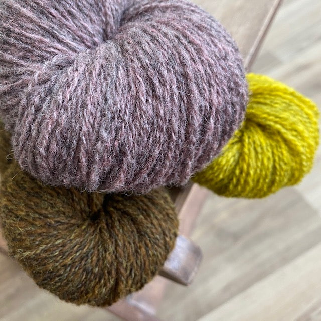 Virtual Literary Knitting Club - Starts end of April - Periwinkle/ Brown - Beautiful Knitters