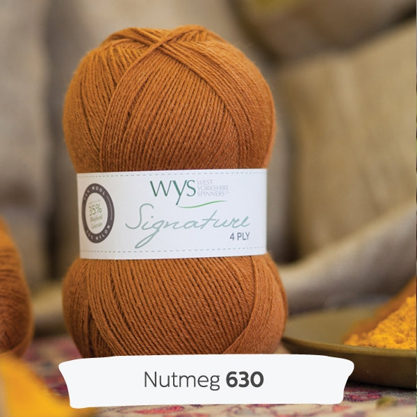 WYS SIGNATURE 4ply - Nutmeg 630 - Beautiful Knitters