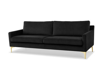 Century - three seater sofa - dark grey velvet