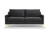 Century Luxe two seater sofa - dark grey velvet - Calvers + Suvdal