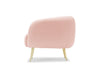 Glamorös armchair - scalloped back, pink, gold legs by Calvers &