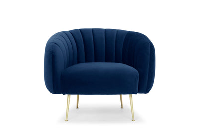 Glamorös armchair - electric navy velvet
