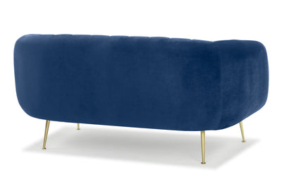 Glamorös two seater sofa loveseat - electric navy