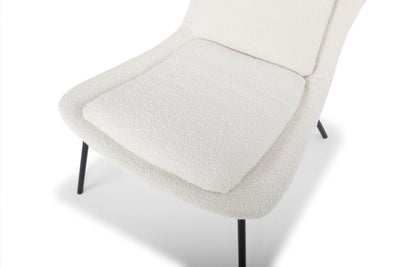 Hermes chair - white teddy bear
