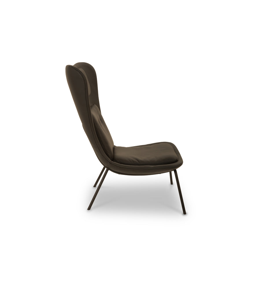 Hermes Chair, Premium Black Leather by Calvers & Suvdal