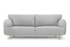 Modern three seater sofa - light grey wool by Calvers & Suvdal