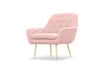 Viceroy armchair - dusky pink with gold legs