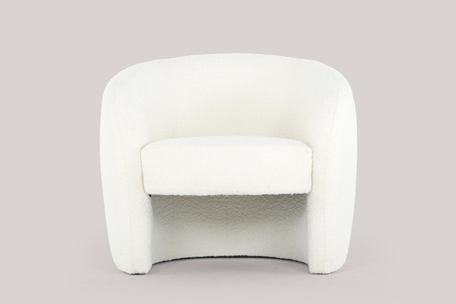 Mandy armchair - teddy white