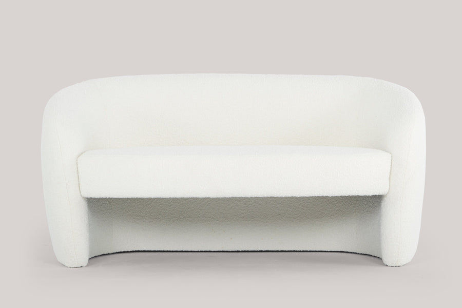 Mandy two seater sofa - teddy white