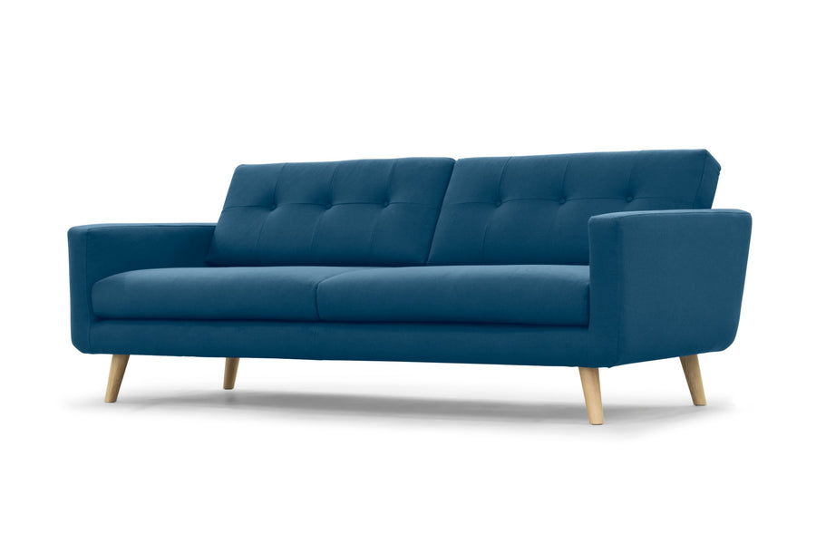 Olav Three Seater - nordic blue wool