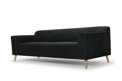 Shakermaker - three seater sofa - dark grey velvet