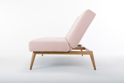 Smaller Snooze sofa bed -  dusky pink