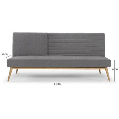 Large snooze multifunction sofa bed in grey by Calvers & Suvdal