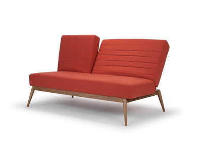 Snooze multifunction sofa bed in orange by Calvers & Suvdal