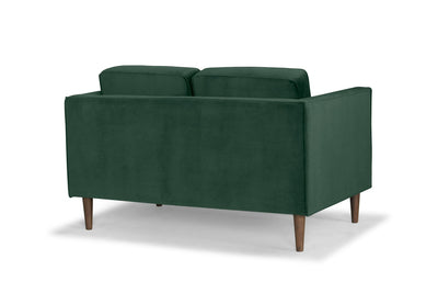 Staunton - two seater sofa in green velvet by Calvers & Suvdal