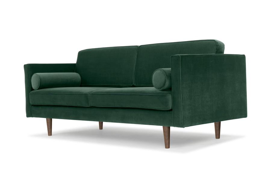 Staunton - three seater sofa in green velvet