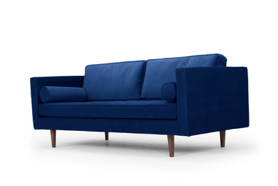 Staunton - three seater sofa -  navy velvet