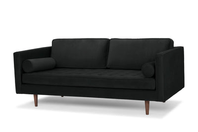 Staunton - three seater sofa -  dark grey velvet