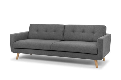 Olav modern three seater sofa in grey by Calvers & Suvdal