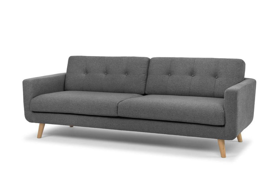 Olav three seater sofa - charcoal grey