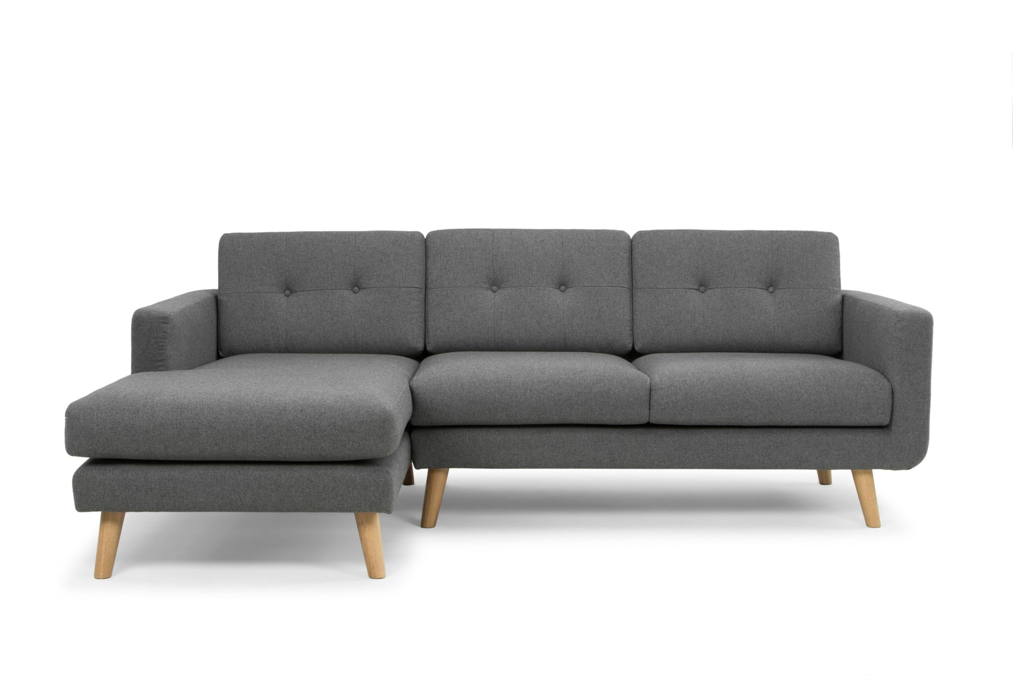 Olav large three seater sofa with chaise - corner sofa - by Calvers &