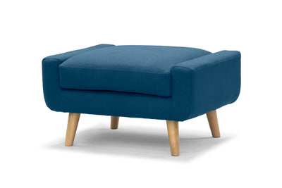 Olav large footstool in Nordic blue by Calvers & Suvdal