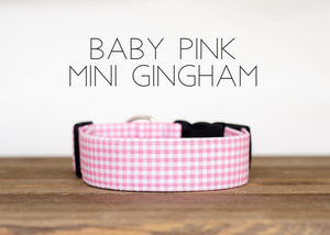 Baby Pink Mini Gingham
