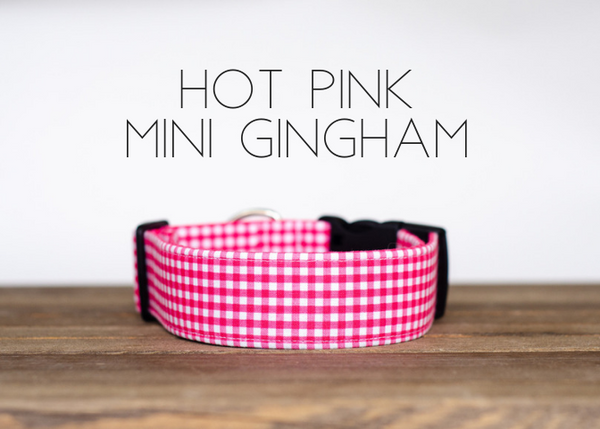 Hot Pink Mini Gingham