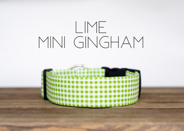 Lime Mini Gingham