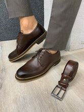 Load image into Gallery viewer, Noak Laced Eva Coffee Leather Shoes