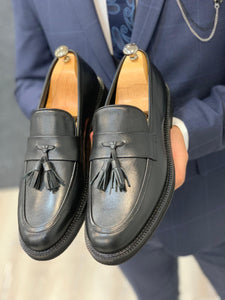 Noak Tasseled Eva Black Loafer