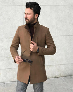 Heritage Taba Collar Up Cashmere Coat