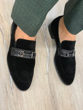 Noak Suede Black Buckled Shoes