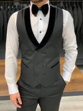 Load image into Gallery viewer, Nate Half Velvet Collared Tuxedo