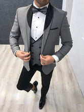 Load image into Gallery viewer, Verno Grey Slim Fit Tuxedo