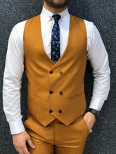 Verno Mustard Slim Fit Suit