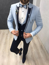Load image into Gallery viewer, Noah Ice Blue Vested Tuxedo   (Wedding Edition)