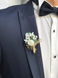 Noah Navy Tuxedo with Velvet Vest  (Wedding Edition)