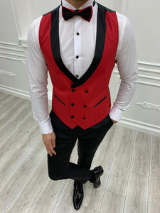 Brooks Slim Fit Groom Collection (Red Tuxedo)
