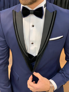 Harrison Navy Velvet Collared Tuxedo