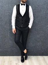 Load image into Gallery viewer, Noah Black Shawl Collared Slim Fit Suit