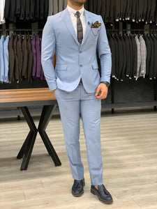 Heritage Slim Fit Ice Blue Suits