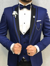 Load image into Gallery viewer, Noah Sax Vested Tuxedo (Wedding Edition)