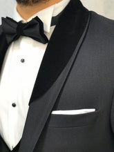Load image into Gallery viewer, Genova Slim Fit Black with Velvet Tuxedo