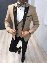 Laden Sie das Bild in den Galerie-Viewer, Verno Gold Slim Fit Tuxedo