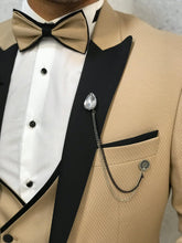 Load image into Gallery viewer, Verno Gold Slim Fit Tuxedo