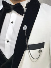 Load image into Gallery viewer, Noah White Tuxedo with Velvet Vest