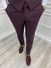 Laden Sie das Bild in den Galerie-Viewer, Verno Slim Fit Claret Red Suit