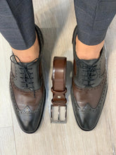 Noak Jourdan Grey Coffee Shoes